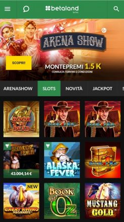 Casinò Betaland mobile