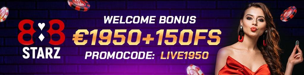 bonus casino con codice promo LIVE1950