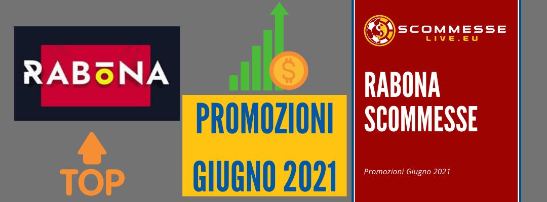 Bonus di benvenuto su Rabona scommesse – Giugno 2021